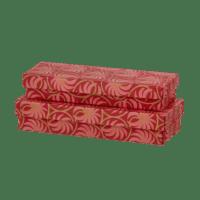 BUNGALOW - Geschenkschachtel – Palmen - 2er Set in Rot