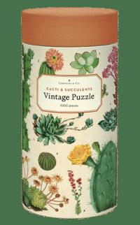 - Kakteen & Sukkulenten – Vintage Puzzle - 1000 Teile