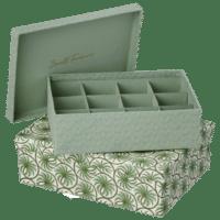 BUNGALOW - Aufbewahrungsboxen mit Unterteilung – 2er Set - in Grün