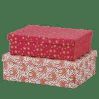 BUNGALOW - Aufbewahrungsboxen mit Unterteilung – 2er Set - in Scarlett- Rot