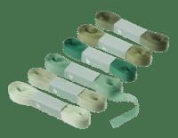 BUNGALOW - Geschenkband – Pine green - 6er Set à 10m