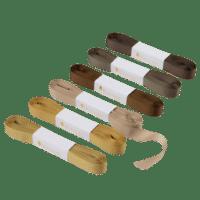 BUNGALOW - Geschenkband – Ochre - 6er Set à 10m