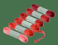 BUNGALOW - Geschenkband – Scarlet - 6er Set à 10m