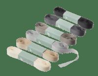 BUNGALOW - Geschenkband – Fossil - 6er Set à 10m