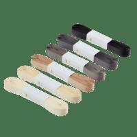 BUNGALOW - Geschenkband – Asphalt - 6er Set à 10m