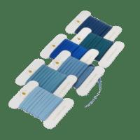BUNGALOW - Geschenkband Ocean Blue - 6er Set à 10m - Slim