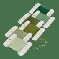 BUNGALOW - Geschenkband – Pine green - 6er Set à 10m - Slim