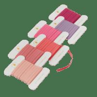 BUNGALOW - Geschenkband – Lipstick - 6er Set à 10m - Slim