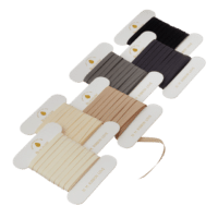 BUNGALOW - Geschenkband Asphalt - 6er Set à 10m - Slim