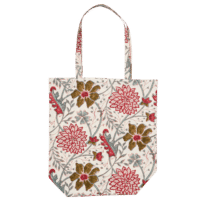 BUNGALOW - Stofftasche Rosé - in Blockdruck
