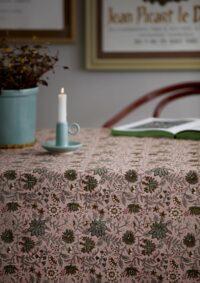 BUNGALOW - Tischtuch Rund – Komati Rose - Bedruckte Tischdecke aus Baumwolle