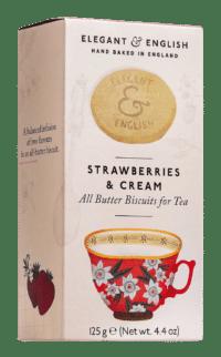 ARTISAN BISCUITS - Butter Buscuits Strawberries & Cream - Butterkekse zum Tee mit Erdbeeren und Sahne