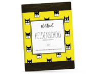 WILDBACH - Wildbach Schokolade – Heldenschoki - Edle Zartbitterschokolade 62% mit gemahlenem Espresso- Kaffee