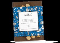 WILDBACH - Wildbach Vollmilchschokolade – Kraftpaket - mit 38% Kakaoanteil, bestreut mit ganzen Haselnüssen