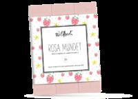 WILDBACH - Wildbach Schokolade – Rosa Mundet - Feinste weiße Schokolade 31% mit Himbeer- Vanille