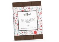 WILDBACH - Wildbach Vollmilchschokolade – Zum Geburtstag - mit 38% Kakao Anteil