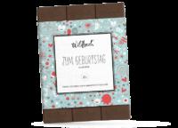 WILDBACH - Wildbach Zartbitterschokolade – Zum Geburtstag - mit 62% Kakao Anteil