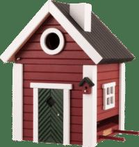 WILDLIFE GARDEN - Futtertisch & Vogelnistkasten Schwedenkate - Nistkasten aus Holz für Kleinvögel