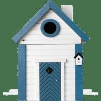 WILDLIFE GARDEN - Futtertisch & Vogelnistkasten Seeschuppen - Nistkasten aus Holz für Kleinvögel