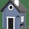 WILDLIFE GARDEN - Futtertisch & Vogelnistkasten Blaues Haus - Nistkasten aus Holz für Kleinvögel