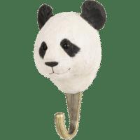 WILDLIFE GARDEN - Handgeschnitzter Haken – Panda - Wandhaken aus Holz