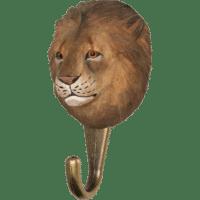 WILDLIFE GARDEN - Handgeschnitzter Haken – Löwe - Wandhaken aus Holz