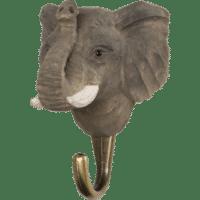 WILDLIFE GARDEN - Handgeschnitzter Haken – Elefant - Wandhaken aus Holz