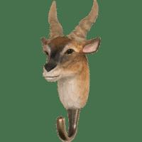 WILDLIFE GARDEN - Handgeschnitzter Haken – Elenantilope - Wandhaken aus Holz
