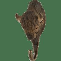 WILDLIFE GARDEN - Handgeschnitzter Haken – Bison - Wandhaken aus Holz