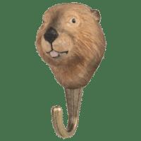 WILDLIFE GARDEN - Handgeschnitzter Haken – Biber - Wandhaken aus Holz