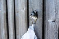 WILDLIFE GARDEN - Handgeschnitzter Haken – Wolf - Wandhaken aus Holz