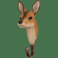 WILDLIFE GARDEN - Handgeschnitzter Haken – Reh - Wandhaken aus Holz