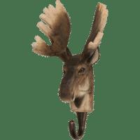WILDLIFE GARDEN - Handgeschnitzter Haken – Elch - Wandhaken aus Holz