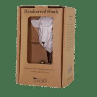 WILDLIFE GARDEN - Handgeschnitzter Haken – Schaf - Wandhaken aus Holz