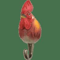 WILDLIFE GARDEN - Handgeschnitzter Haken – Hahn - Wandhaken aus Holz