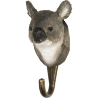 WILDLIFE GARDEN - Handgeschnitzter Haken – Koalabär - Wandhaken aus Holz