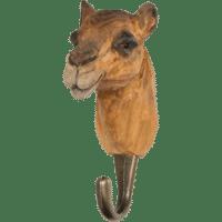 WILDLIFE GARDEN - Handgeschnitzter Haken – Kamel - Wandhaken aus Holz