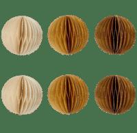BUNGALOW - Papier Anhänger Rund – Ocker - 6er Set in 3 Farben