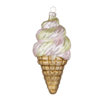BUNGALOW - Eiscreme – Ornament - Aus Glas zum Aufhängen