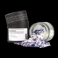GEWÜRZMÜHLE ROSENHEIM - Blaues Blütensalz - Salzflocken mit Kornblumenblüten