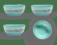 SERAX-OTTOLENGHI - OTTOLENGHI FEAST Bowl Large – Azur + Swirl Stripes Red - Large - 4er SET ø 15 x H7 CM