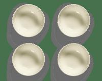 SERAX-OTTOLENGHI - OTTOLENGHI FEAST Bowl Large – White + Swirl Stripes Blue - Large - 4er SET ø 15 x H7 CM