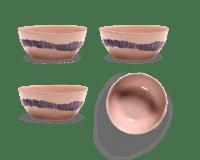 SERAX-OTTOLENGHI - OTTOLENGHI FEAST Bowl Large – Delicious Pink + Swirl Stripes Blue - Large - 4er SET ø 15 x H7 CM
