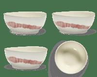 SERAX-OTTOLENGHI - OTTOLENGHI FEAST Bowl XL – White + Swirl Stripes Red - XLarge - 4er SET ø 17 x H7 CM