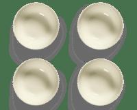 SERAX-OTTOLENGHI - OTTOLENGHI FEAST Bowl  XL – White + Swirl Stripes Blue - XLarge - 4er SET ø 17 x H7 CM