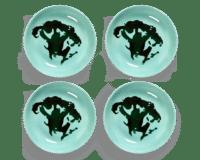 SERAX-OTTOLENGHI - OTTOLENGHI – FEAST Schale S – Azure + Brokkoli Green - 4er SET, ø 11.5 x H2 CM