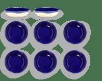 SERAX-OTTOLENGHI - OTTOLENGHI – FEAST Schale XS – Lapis Lazuli - 8er SET, ø 7.5 x H2 CM