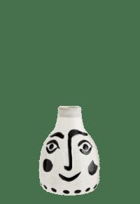 MADAM STOLTZ - Vase mit aufgemaltem Gesicht, klein
