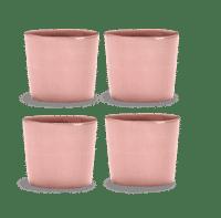 SERAX-OTTOLENGHI - OTTOLENGHI – FEAST Espresso Cups 15 cl – Delicious Pink - 4er SET ø 7 x H6 CM