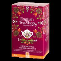 English Tea Shop - Schwarzer BIO Tee mit Ingwer & Pfirsich - 20 Beutel